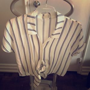 Navy stripped, white Wilfred blouse